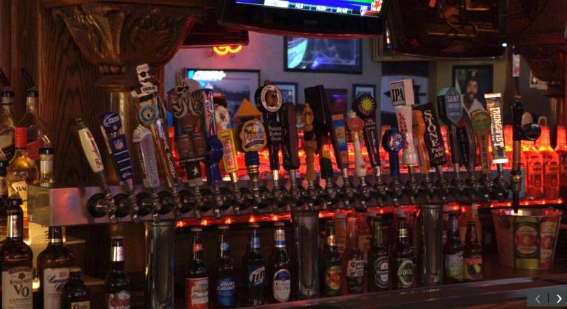 55  yard line bar beer tap