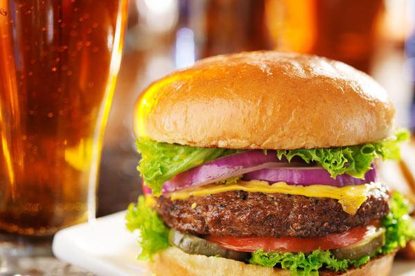 55  yard line bar burger