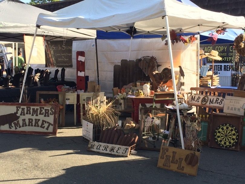 Fallbrook Harvest Faire vintage themed booth